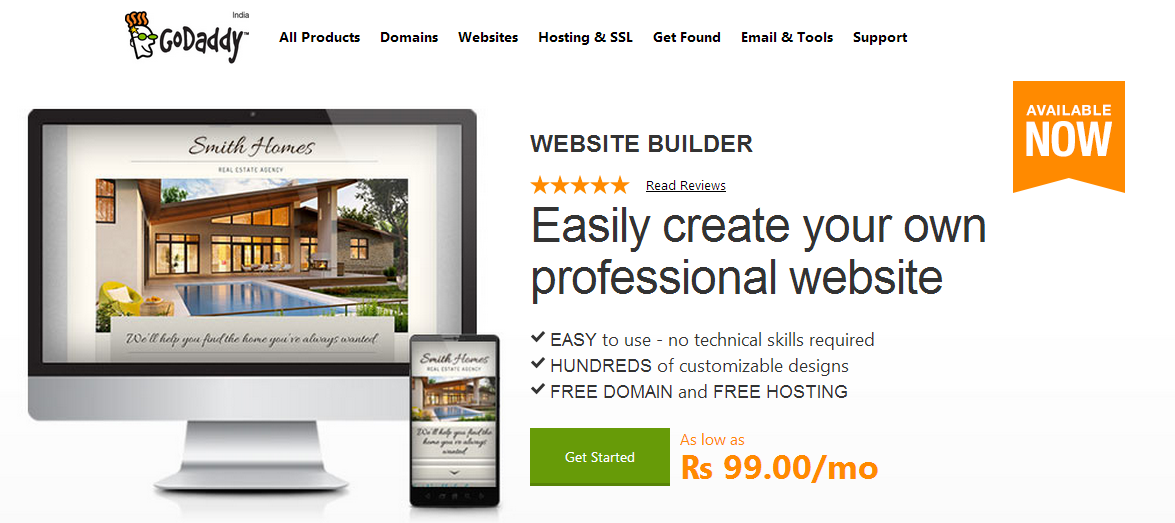 how to create a website using godaddy